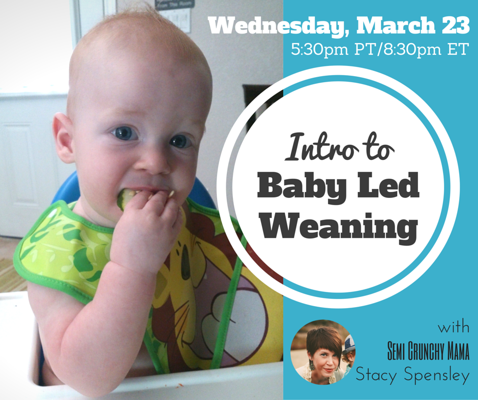 Intro to Baby Led Weaning, Wednesday, March 23